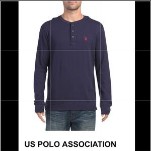 US POLO ASSOCIATION Long sleeve henley thermal